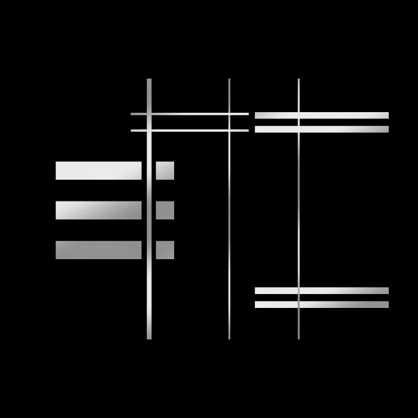 Stainless steel - INOX - stripes